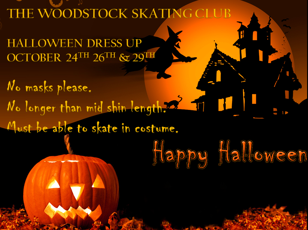 woodstock skating club (on) :: halloween dress up days